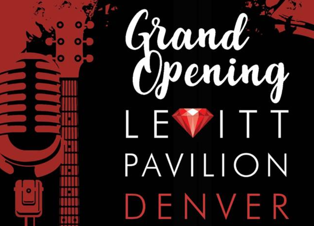 Grand Opening Levitt Pavilion Denver Image with a guitar and microphone